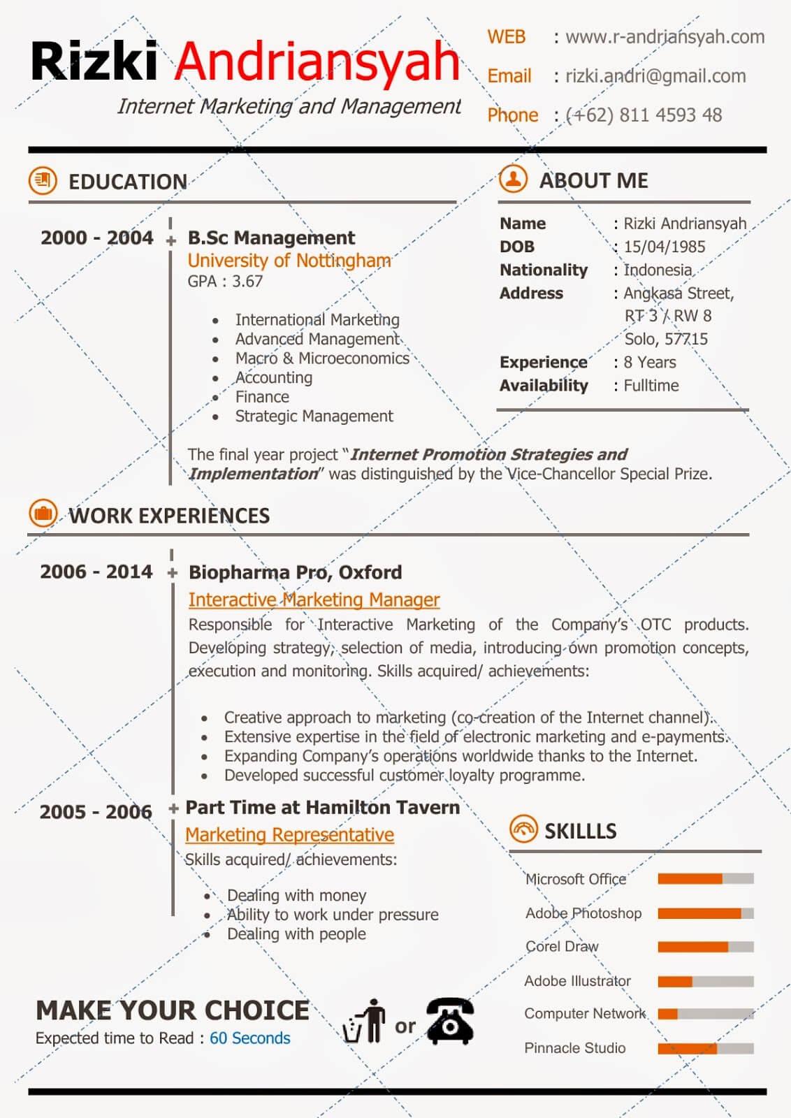 30 Contoh Cv Simpel Dan Kreatif Untuk Lamaran Kerja