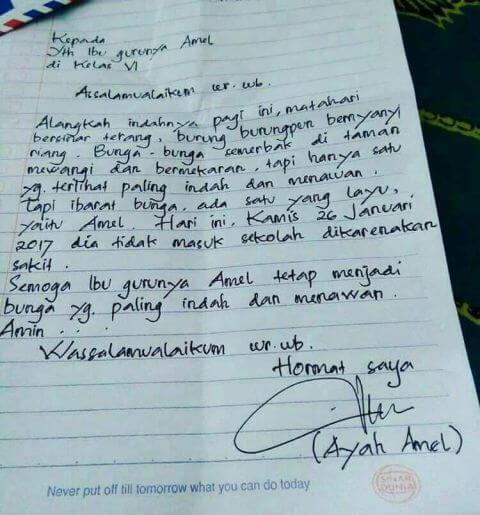 Contoh Surat Izin Sakit Tulisan Tangan