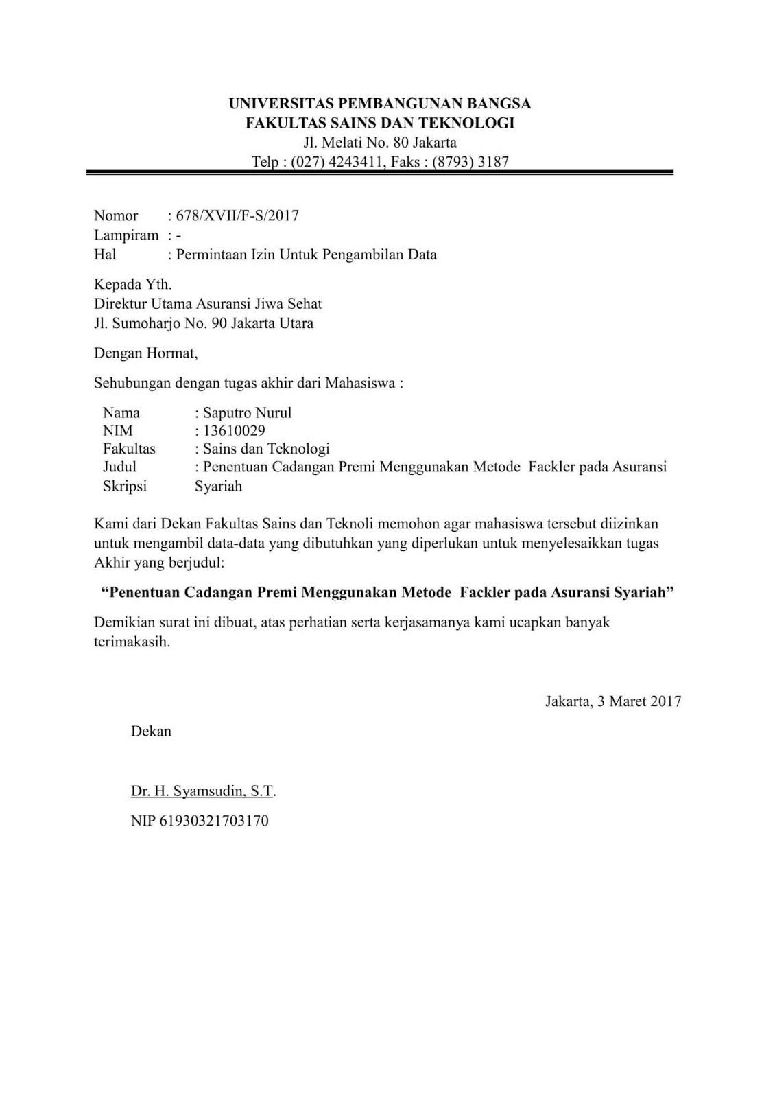 Contoh Surat Pengantar Kerja