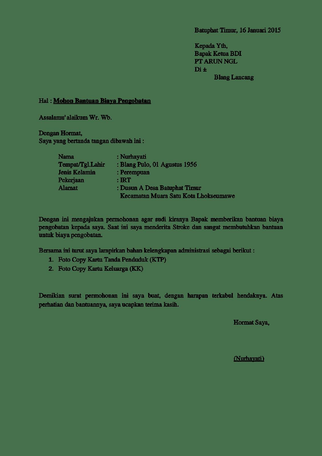 8 Contoh Surat Permohonan Bantuan Dana Terlengkap