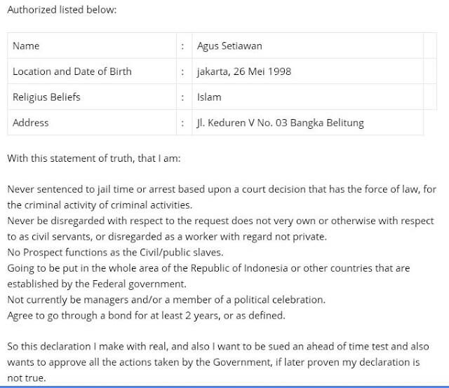 Contoh Surat Pernyataan Penghasilan Orang Tua