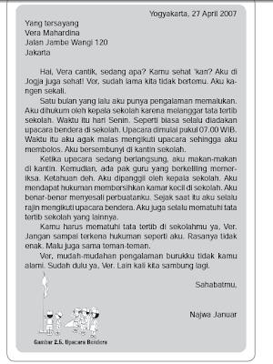 Contoh Surat Pribadi Untuk Adik