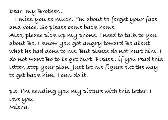 Contoh Surat Pribadi untuk Kakak Kandung Bahasa Inggris