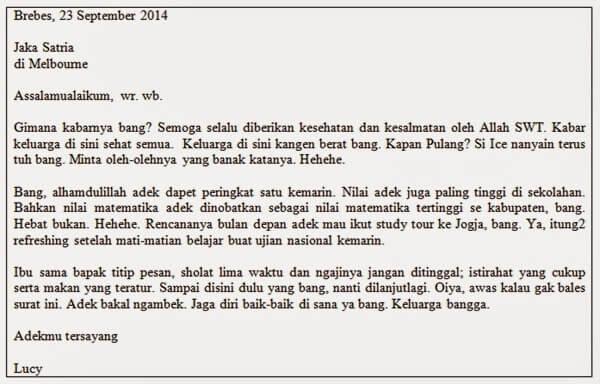 Contoh Surat Untuk Saudara Jauh