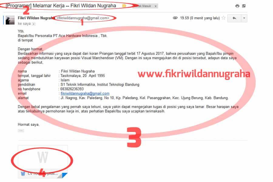 Contoh Body Email Lamaran Kerja yang Baik