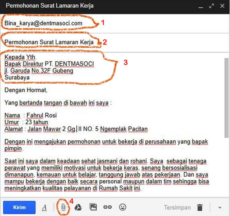 Contoh Email Lamaran Kerja Bahasa Inggris