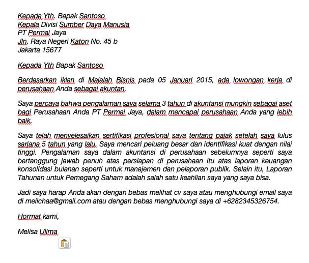 Arti Surat Lamaran Kerja Sekretaris