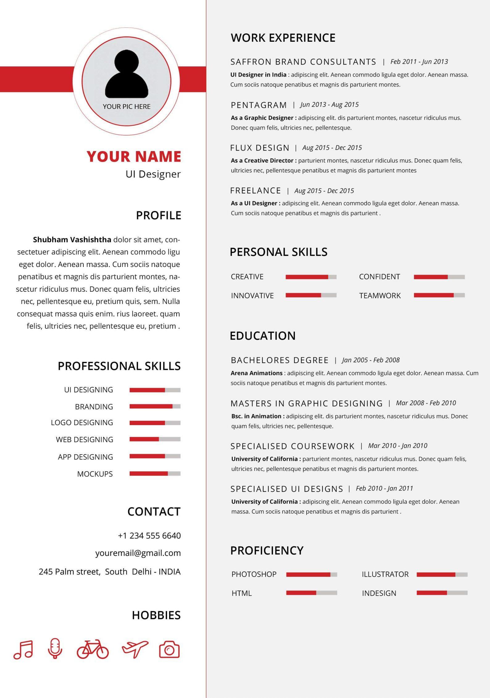 Contoh Daftar Riwayat Hidup Dalam Bahasa Inggris